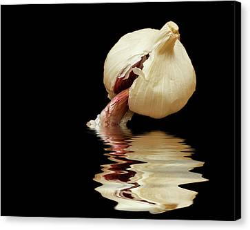 Canvas Print featuring the photograph Garlic Cloves Of Garlic by David French