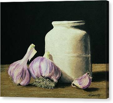 Garlic Crock Canvas Print