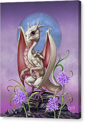 Canvas Print featuring the digital art Garlic Dragon by Stanley Morrison