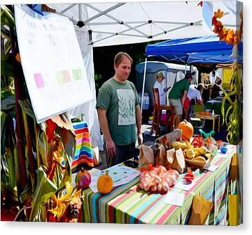 Saugerties Canvas Print - Garlic Festival Vendors by Lanjee Chee