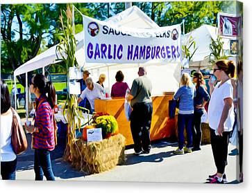 Saugerties Canvas Print - Garlic Hamburgers by Lanjee Chee