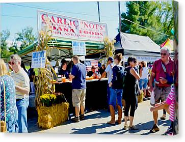Saugerties Canvas Print - Garlic Nots by Lanjee Chee