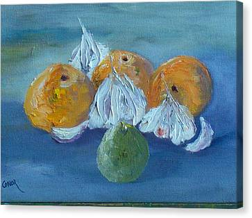 Garlic Orange Lime Canvas Print by Conor Murphy
