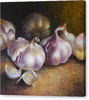 Garlic Painting Canvas Print