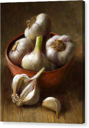 Food Canvas Print - Garlic by Robert Papp