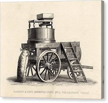 Garrett And Son S Improved Stone Mill Canvas Print