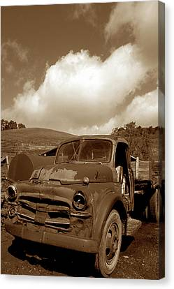 Garrod's Old Truck 2 Canvas Print by Kathy Yates