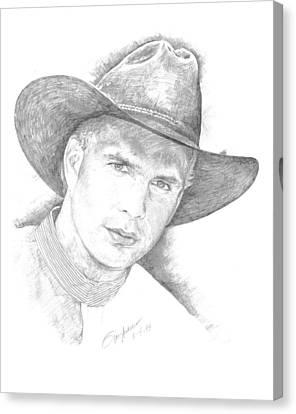 Garth Brooks Canvas Print by Jan Andrews