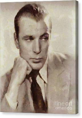Gary Cooper, Hollywood Actor Canvas Print by Sarah Kirk