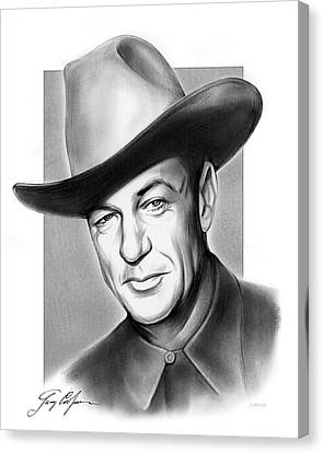 Autographed Canvas Print - Gary Cooper Signature by Greg Joens