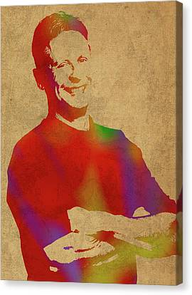 Gary Johnson Libertarian Politician Watercolor Portrait Canvas Print by Design Turnpike