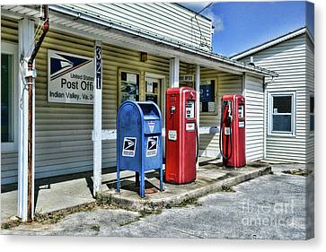 Gas And Mail Canvas Print by Paul Ward