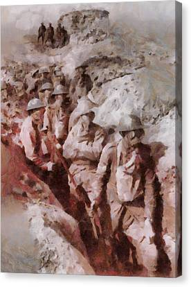 Gas Attack Wwi  Canvas Print by Esoterica Art Agency