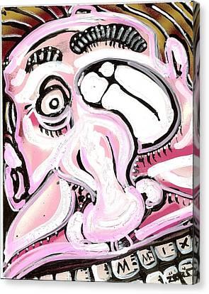 Gas Face Canvas Print by Robert Wolverton Jr