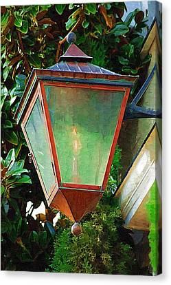 Gas Lantern Canvas Print by Donna Bentley