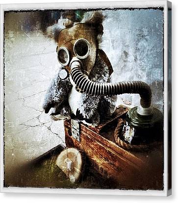 Gas Mask Koala Canvas Print