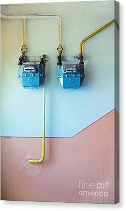 Gas Meters Canvas Print by Gabriela Insuratelu
