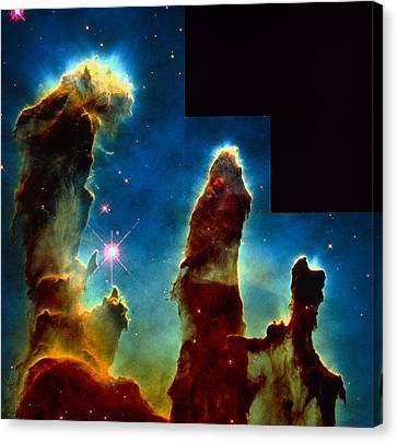 Gas Pillars In Eagle Nebula Canvas Print