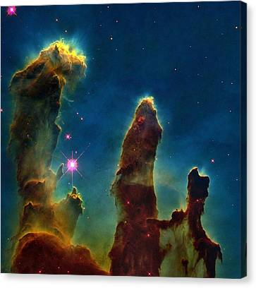 Gas Pillars In The Eagle Nebula Canvas Print