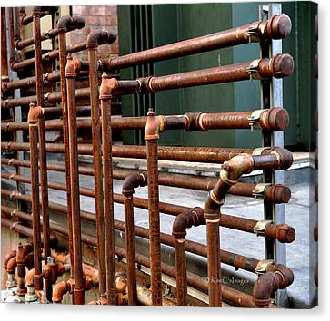 Gas Pipes And Fittings Canvas Print