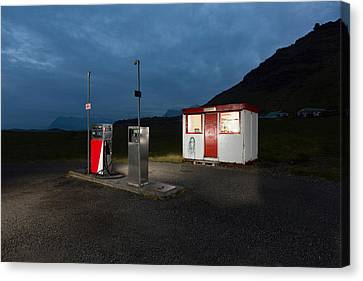 Gas Station In The Countryside, South Canvas Print