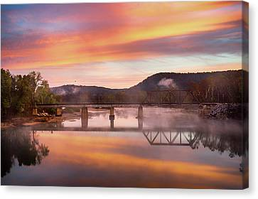 Gasconade River Sunrise Canvas Print by Jae Mishra