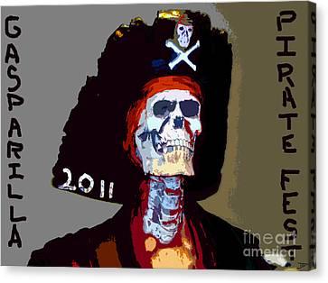 Gasparilla Pirate Fest Poster Canvas Print by David Lee Thompson