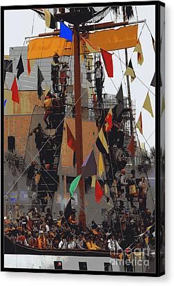 Gasparilla Ship Poster Canvas Print by Carol Groenen