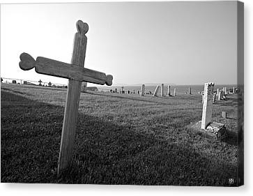Gaspe Cemetery Canvas Print by John Meader