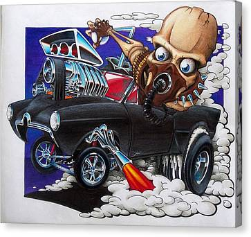 Gasser Canvas Print by Jason Hunt