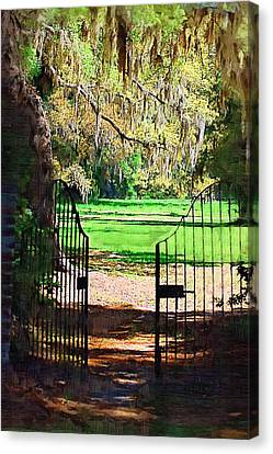 Canvas Print featuring the photograph Gate To Heaven by Donna Bentley