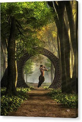 Gate To Pan's Garden Canvas Print by Daniel Eskridge