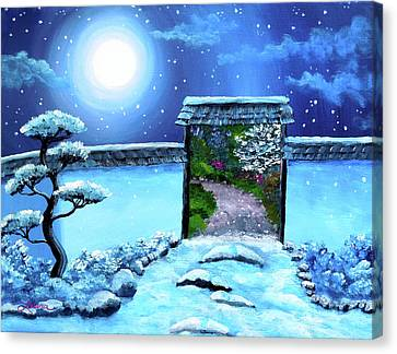 Gate To Spring Canvas Print