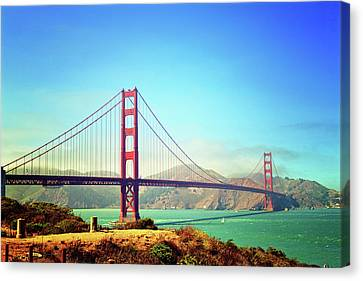 Gate To The Golden Canvas Print by Ashley Cole