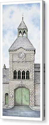Gatehouse Clock   Caton Road  Lancaster   Lancashire Canvas Print by Sandra Moore