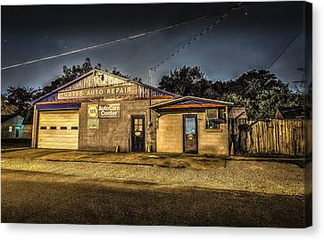 Canvas Print featuring the photograph Gates Auto Repair by David Morefield