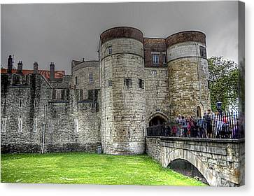 Gates To The Tower Of London Canvas Print by Karen McKenzie McAdoo