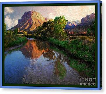 Gateway Colorado Mesa By River Canvas Print by Annie Gibbons