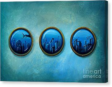 Gateway To Antiquity Canvas Print by Cindy Thornton