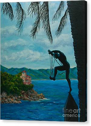 Gateway To Portofino Canvas Print by Charlotte Blanchard