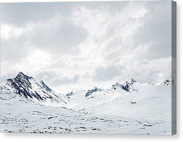 Gateway To The Klondike -- Snow-covered Landscape In British Columbia, Canada Canvas Print