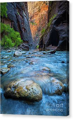 Zion National Park Canvas Print - Gateway To The Narrows by Inge Johnsson