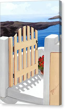 Gateway To The Sea - Prints From My Original Oil Painting Canvas Print