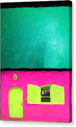 Canvas Print featuring the digital art Gateways And Portals No. 4 by Serge Averbukh