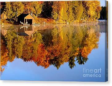 Gatineau Park Taylor Lake Canvas Print by Rod Jellison