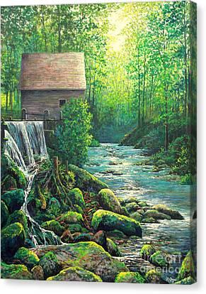 Gatlinburg  Tenessee Mill Canvas Print