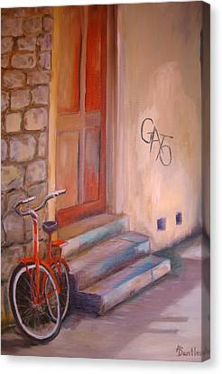 Canvas Print featuring the painting Gato by Anne Dentler