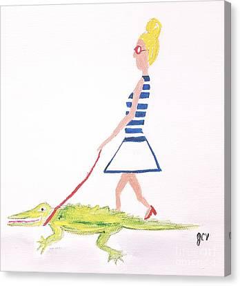 Gator Walk Canvas Print by J Cv