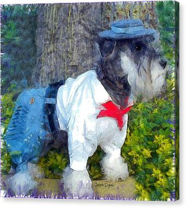 Standard Schnauzer Canvas Print - Gauchito - Da by Leonardo Digenio