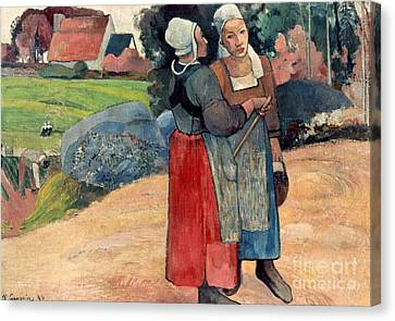 Gauguin: Breton Women, 1894 Canvas Print by Granger